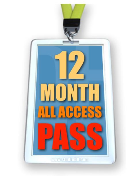 12 Month Pass www.studioDH.com